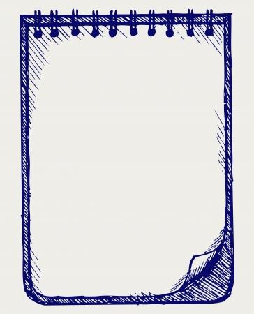 Papier met notebook Doodle stijl