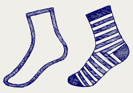 Pair socks  Doodle style Stock Vector - 16516173