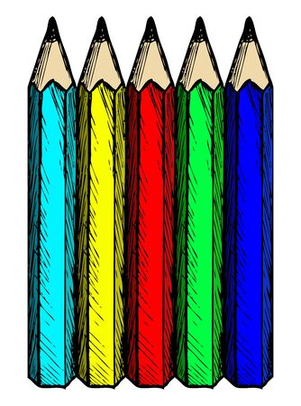 Colour pencils. Doodle style Stock Vector - 16516253