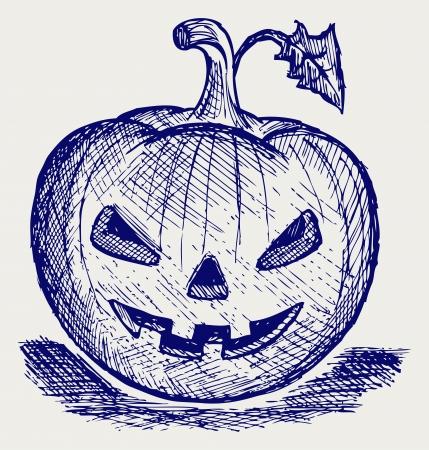 Halloween pumpkin. Doodle style Stock Vector - 16516304