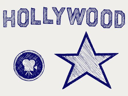 Hollywood. Doodle style Stock Vector - 16516194