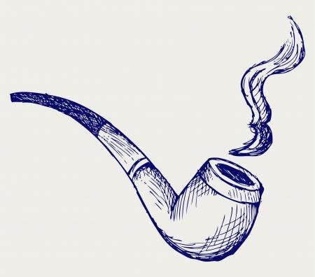 Tabakspfeife Doodle Stil