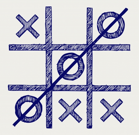 Tic tac toe  Doodle style