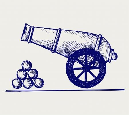 artillery: Cannon  Doodle style