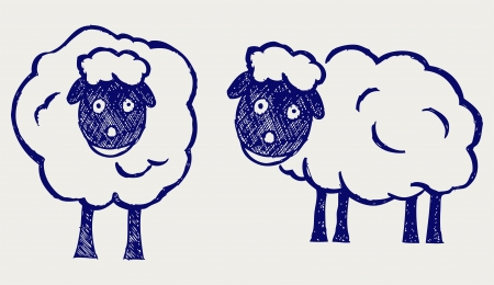 Cartoon sheep. Doodle style Stock Vector - 16516221