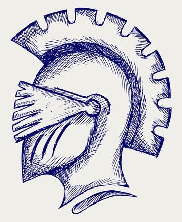 Helmet. Doodle style Stock Vector - 16516276