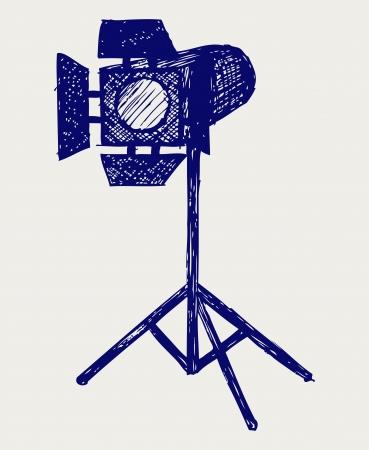 Studio lighting. Doodle style Stock Vector - 16516145