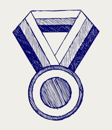 Medal, award. Doodle style Stock Vector - 16906336