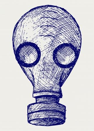 mascara gas: Gas máscara estilo Doodle