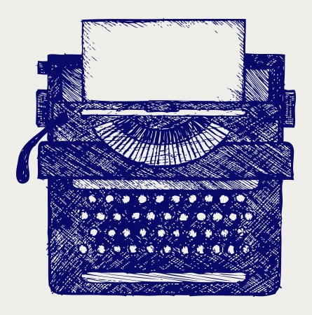 type writer: Macchina da scrivere in stile Doodle