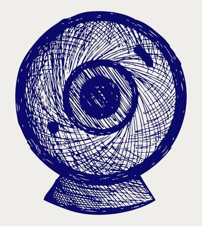 webcam: Webcam. Doodle style