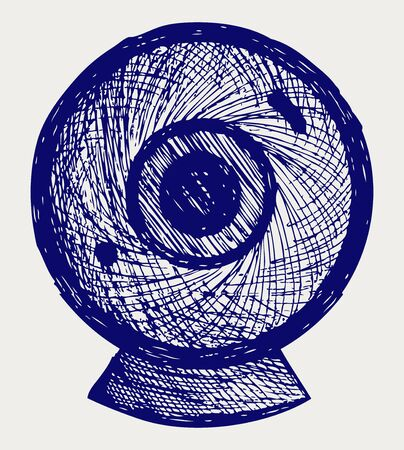 Webcam. Doodle style Stock Vector - 16907901