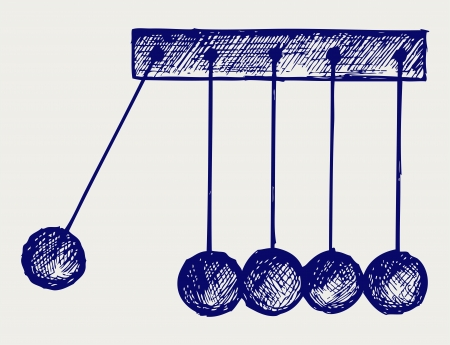 physical therapy: Hanging balls. Doodle style Illustration