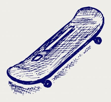 Skateboard. Doodle style Stock Vector - 16907874