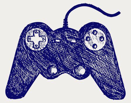 gamepad: Gamepad joystick game controller. Doodle style