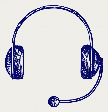 grooved: Headphones. Doodle style