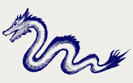 Dragon. Doodle style Stock Vector - 16907877