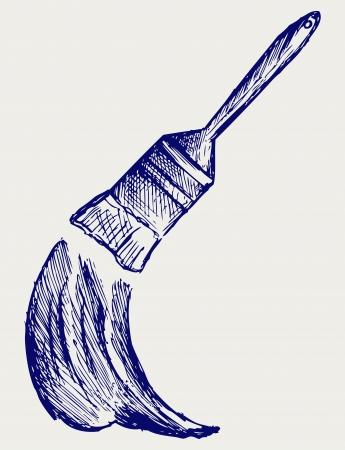 styling: Brush and paint. Doodle style Illustration
