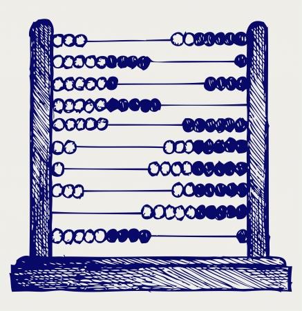 abaco: Abacus. Estilo Doodle Vectores
