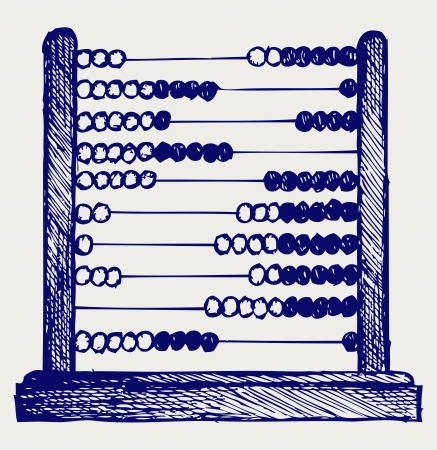 abacus: Abacus. Doodle styl