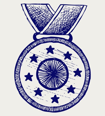 3rd ancient: Medal award. Doodle style