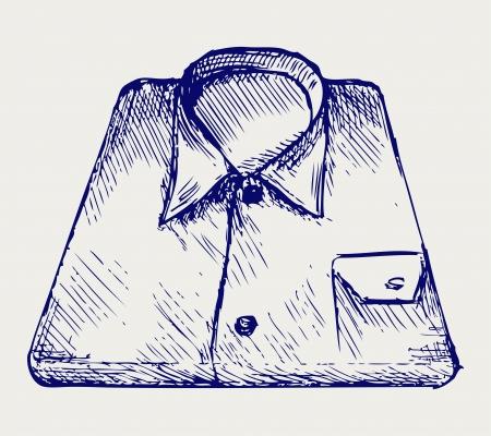 v�tements pli�s: Empilez chemise. Le style Doodle