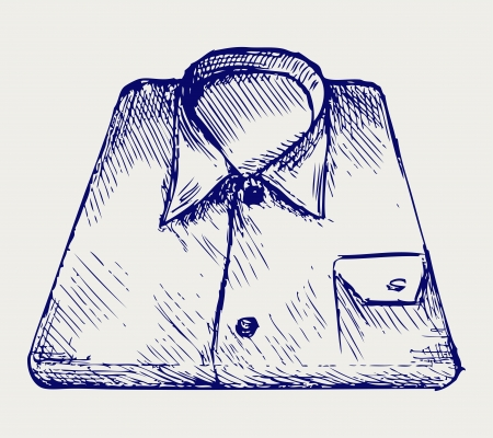 packaged: Stack shirt. Doodle style Illustration