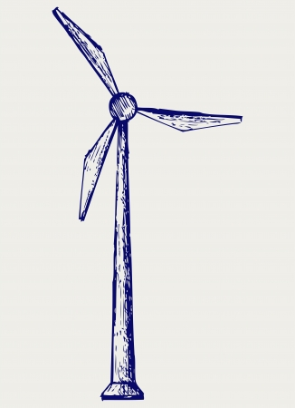 Windmill. Doodle style