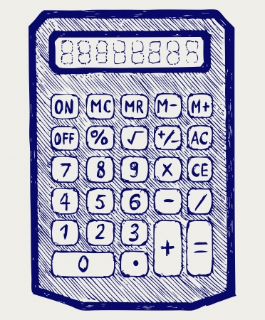 subtract: Calculator. Doodle style