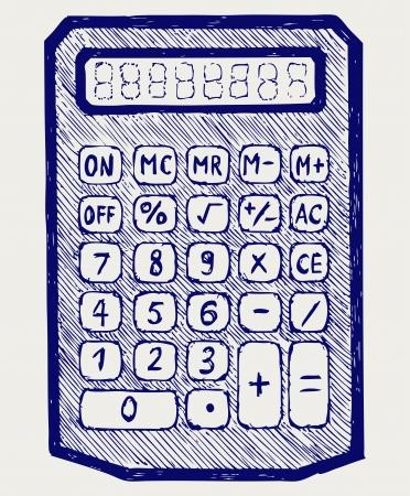 Calculator. Doodle style
