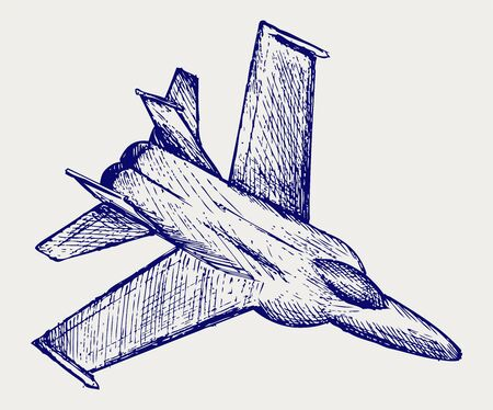 f18: Fighter. Doodle style