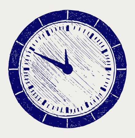 Clock  Doodle style Stock Vector - 17057394