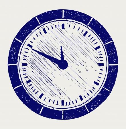 elapsed: Clock  Doodle style Illustration
