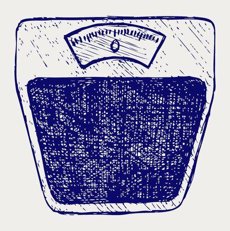 Bathroom scale  Doodle style Stock Vector - 17057406