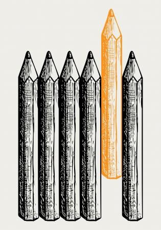 individualit�: Individualit� stile Doodle Vettoriali