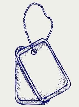 dog tag: Dog tags  Doodle style