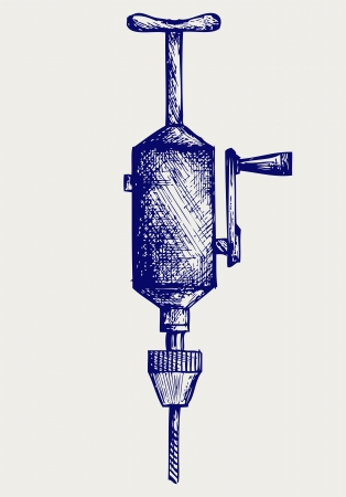 auger: Hand drill  Doodle style