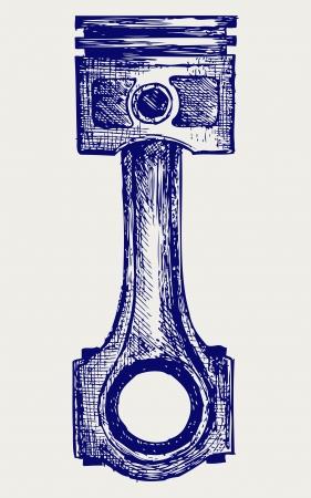 diesel engine: Piston  Doodle style