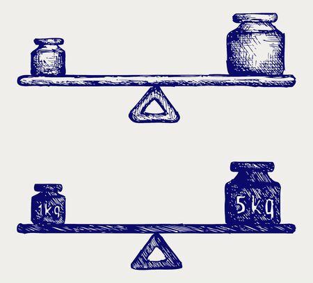 ungleichgewicht: Ausgleichsgewicht Doodle Stil