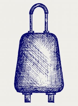 overnight: Suitcase Travel  Doodle style