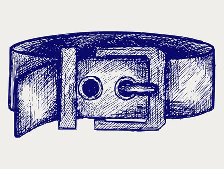 Man s belt  Doodle style Stock Vector - 17057407