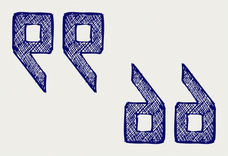 definite: Curly brackets. Doodle style