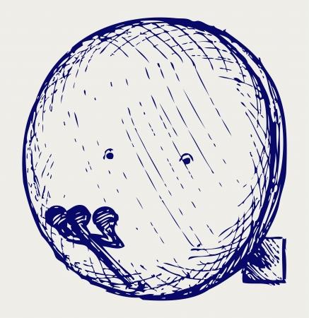 Satellite antenna. Doodle style Stock Vector - 17260567