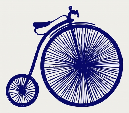 Penny farthing  Doodle style Illustration