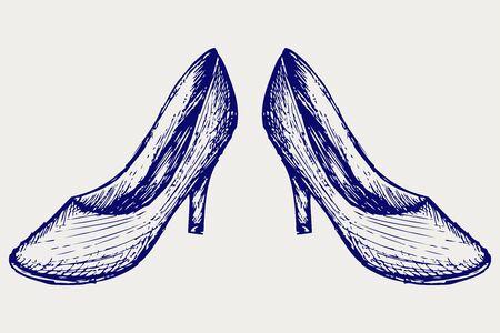 High heels. Sketch Stock Vector - 17260578