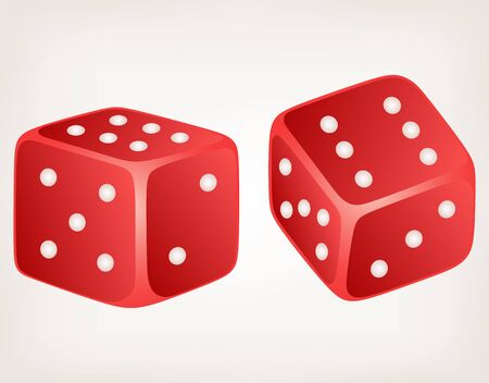 gambling game: Two dices. Style vector