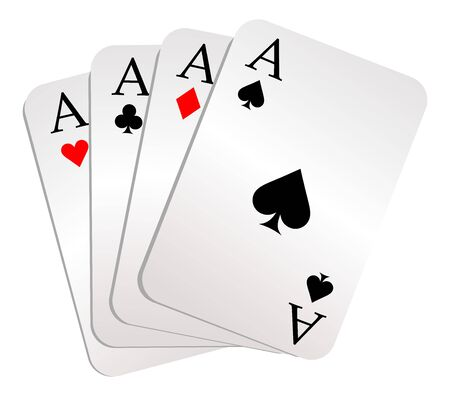 card game: Gambling. Style vector Illustration