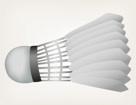 battledore: Badminton ball. Style vector Illustration