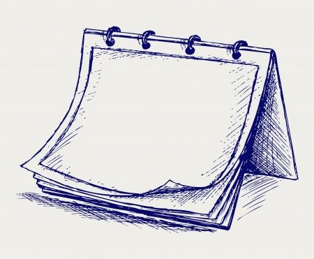 Vector geopend notitieblok. Stijlkrabbel Vector Illustratie