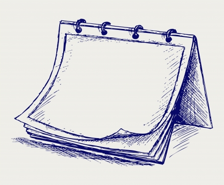 ancient books: Vector open notepad. Doodle style